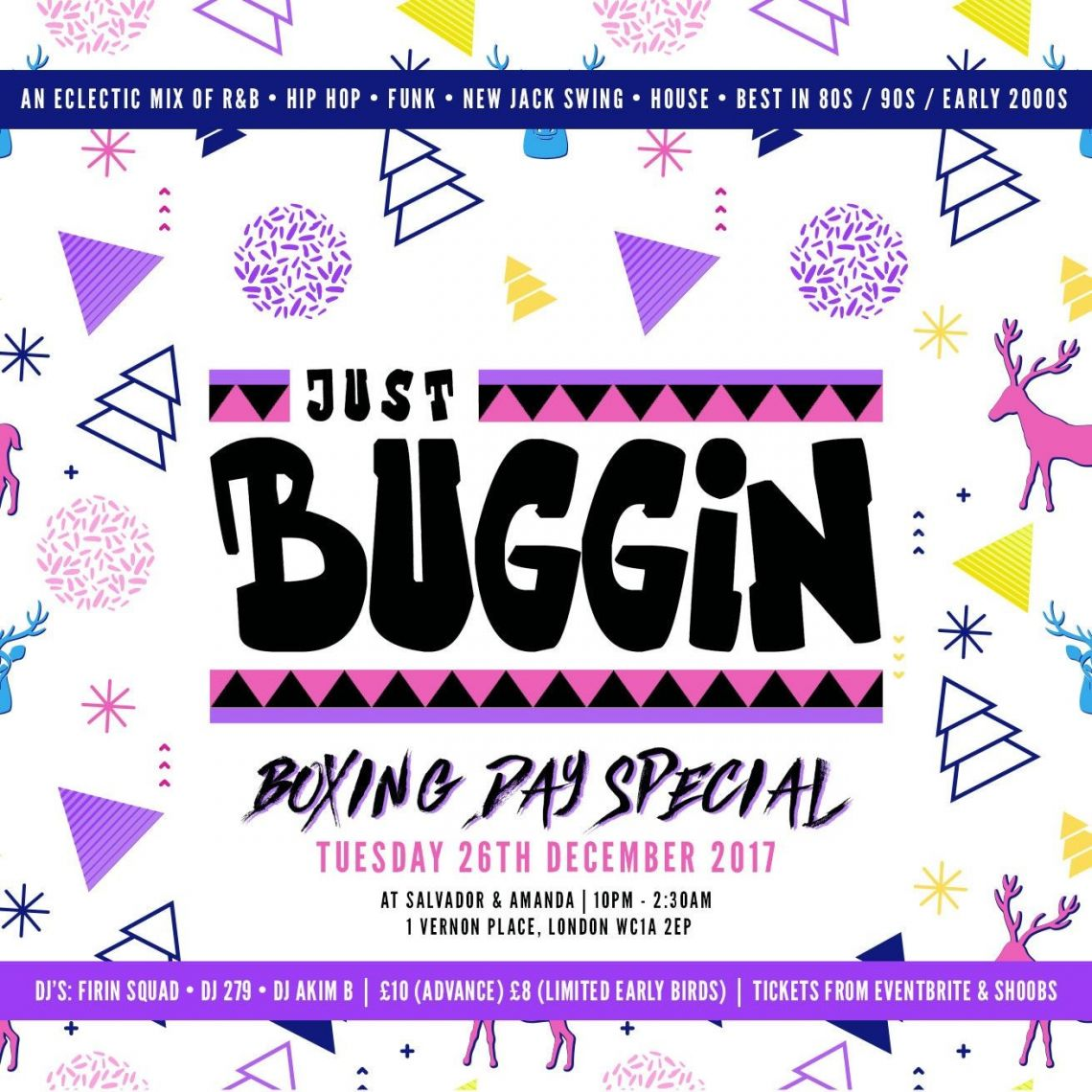 BuzzzTent Free Bud and Beer parties at Just Buggin